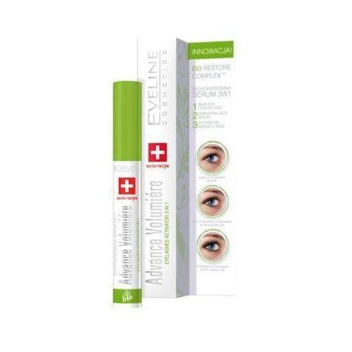 Eveline cosmetics Eveline 10ml advance volumiere 3w1 skoncentrowane serum do rzęs