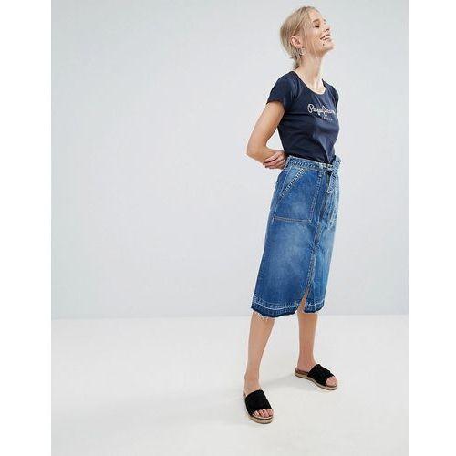lulu belted denim skirt - blue, Pepe jeans
