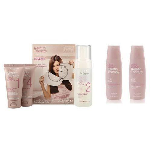 Alfaparf keratin therapy smoothing treatment kit   zestaw do keratynowego prostowania włosów + szampon 250ml + odżywka 250ml do codziennej pielęgnacji (9753197532008)