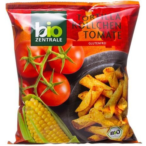 Chipsy tortilla rurka pomidorowe bezglutenowe 125g - bio zentrale eko marki 111bio zentrale
