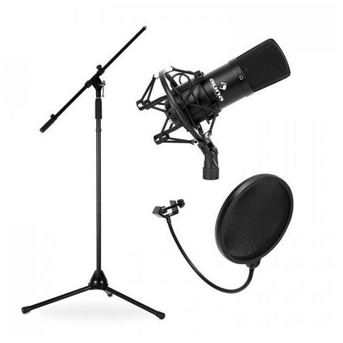 Estradowy-&zestaw mikrofonowy cm001b z mikrofonem, statywem i stojakiem marki Elektronik-star