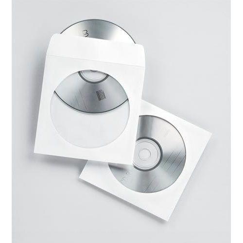 Koperty z okienkiem na płyty cd/dvd, białe, 50 sztuk - białe, marki Fellowes