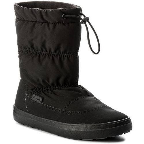 Śniegowce - lodgepoint pull-on boot 203422 black, Crocs, 36.5-41.5