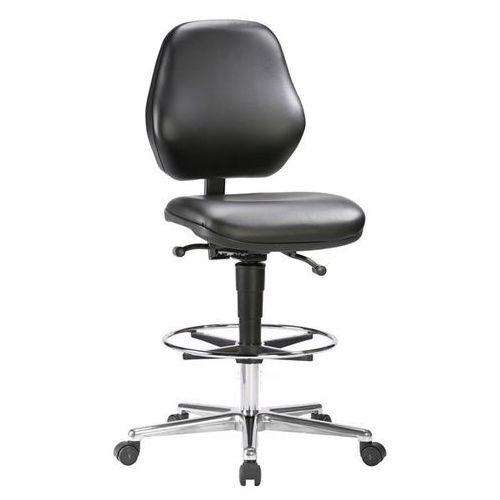 Bimos Wysokie krzesło, na kółkach, z regulacją wysokości sprężyną gazową 660 - 920 mm,