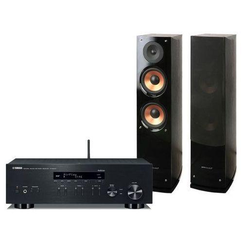 Yamaha Zestaw stereo r-n303d + pure acoustics nova 6 czarny + nawet 35% taniej! + darmowy transport!