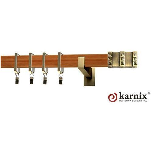 Karnisz Apartamentowy Errano pojedynczy 31x13mm Rotello Antyk mosiądz - calvados - oferta [350c4174c7e594d8]
