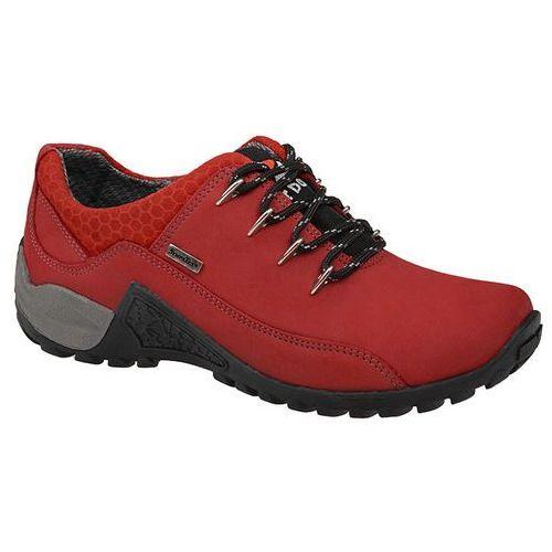 Półbuty trekkingowe nik 05-0128-310 bordo czerwone buty sympatex - czerwony marki Nik giatoma niccoli