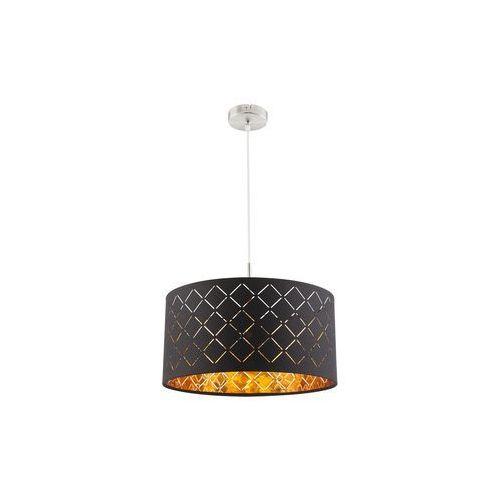 Lampa wisząca Globo Clarke 15229H lampa sufitowa zwis 1x60W E27 czarna / złota