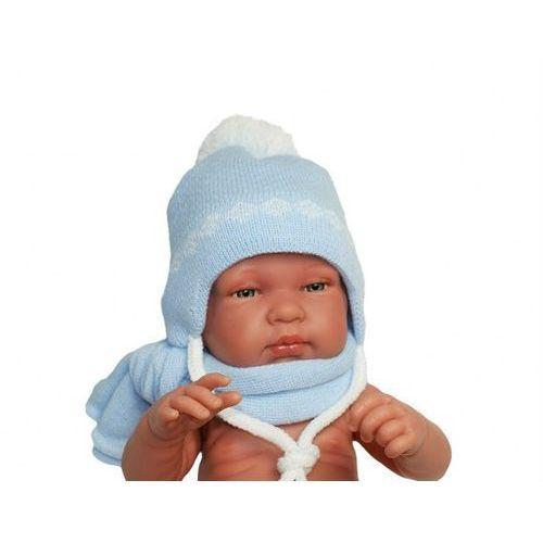 Proman Zimowa czapka niemowlęca z szalikiem, podszyta bawełną, rozmiar: 0 – 2 miesięcy