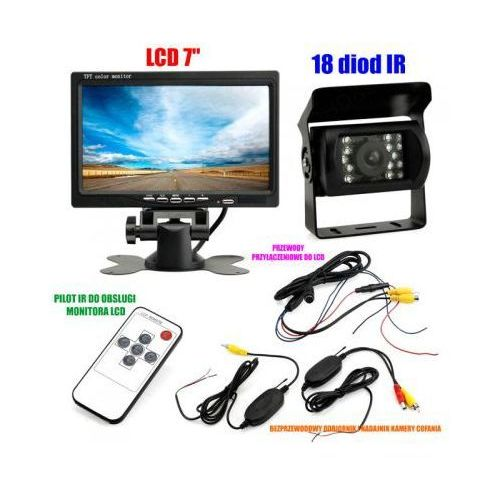 "Bezprzewodowa Kamera Cofania/Parkowania do Tira, Busa, Campera.. + Monitor LCD 7""., 59077734156850"
