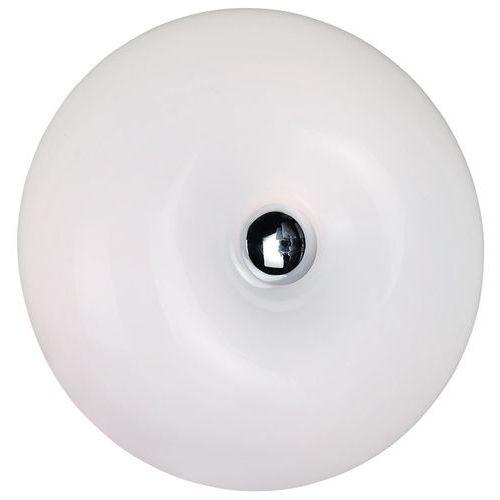 Azzardo Minimalistyczny kinkiet z białym kloszem lampa oprawa ścienna optima a 2x40w e27 biały ax 6014-2b (5901238401810)