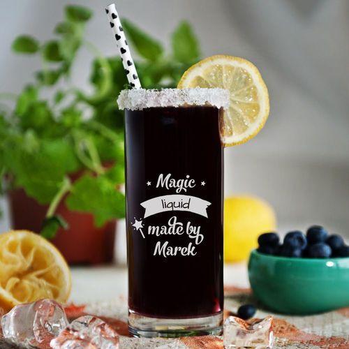 Mygiftdna Magic liquid - grawerowana szklanka do drinków - szklanka