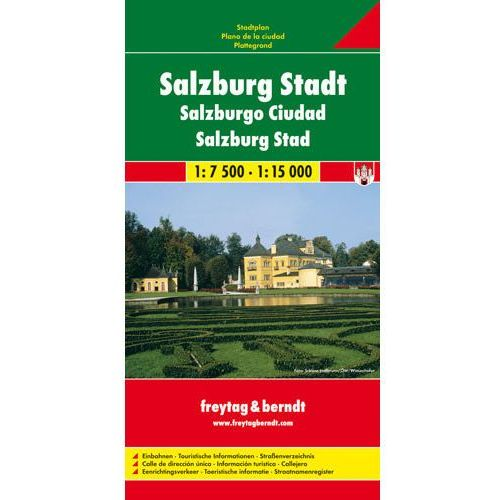 Salzburg 1:7 500-1:15 000. Plan miasta. Freytag&Berndt (2010)