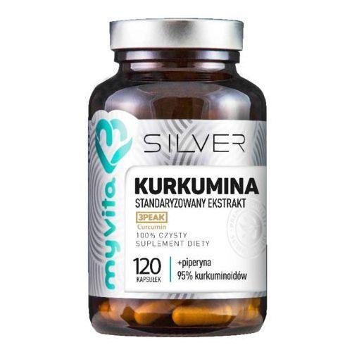 Kurkumina standaryzowany ekstrakt + piperyna 120 kapsułek silver pure marki Myvita