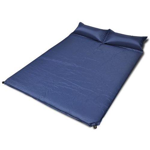 niebieska, samopompująca się mata, 190 x 130 5 cm (podwójna) marki Vidaxl