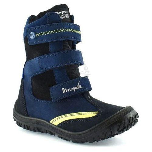 Dziecięce buty zimowe marki Mrugała 7280-66, kolor Granatowy