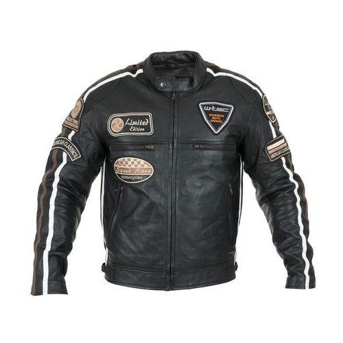 Męska skórzana kurtka motocyklowa W-TEC Sheawen, Czarny, 6XL, kolor czarny