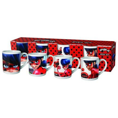 Garty Mini kubek porcelanowy miraculum: biedronka i czarny kot – 4 pak