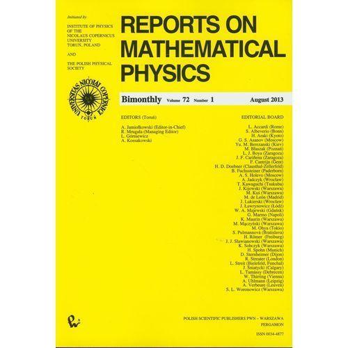 Reports on Mathematical Physics 81/2 wersja krajowa (9770034487146)