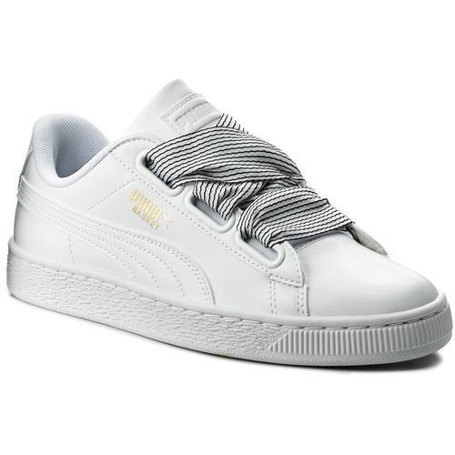 Sneakersy PUMA - Basket Heart 365198 03 Puma White/Puma White