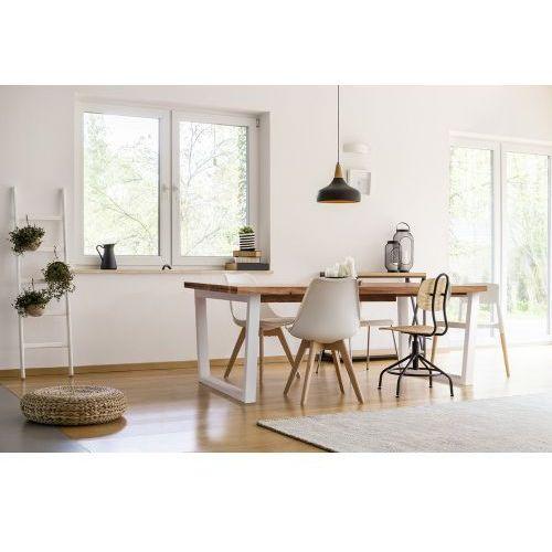 Stół dębowy rozkładany TRAPEZ - biały, 3003-51313