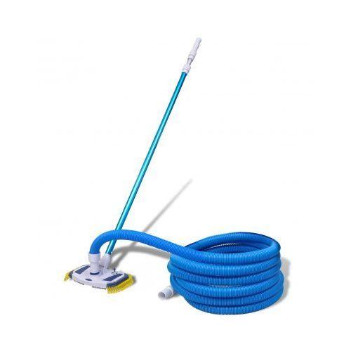 Szczotka do czyszczenia basenu z wężem i teleskopową rączką ze sklepu VidaXL