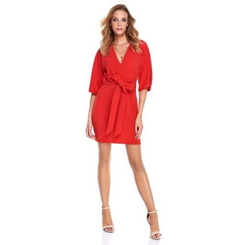 Sukienka Silia w kolorze czerwonym, kolor czerwony