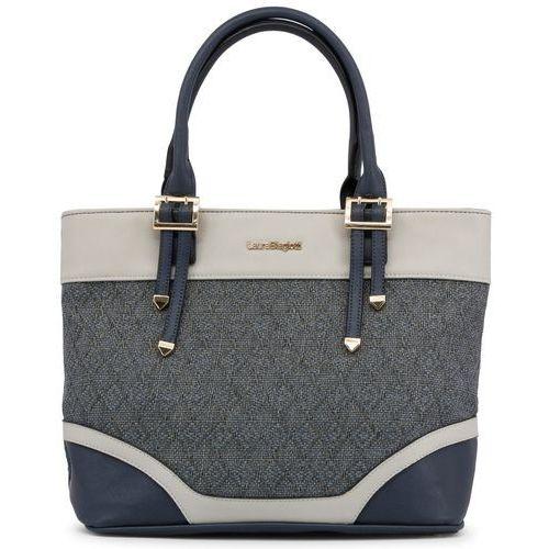 Laura Biagiotti torebka damska niebieska, kolor niebieski