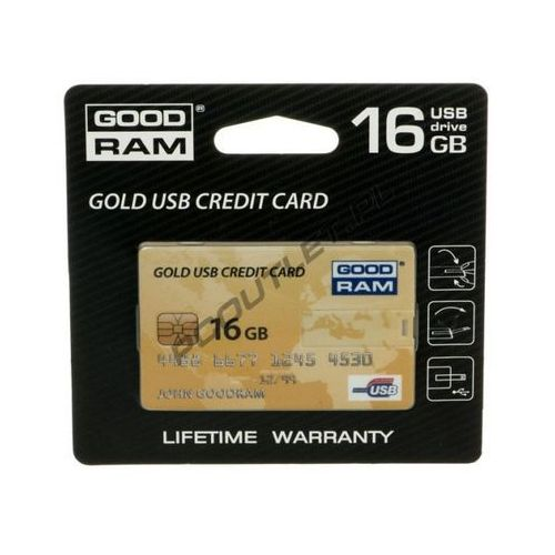 Pendrive GoodRam Gold Credit Card 16GB Darmowy odbiór w 15 miastach!, kup u jednego z partnerów