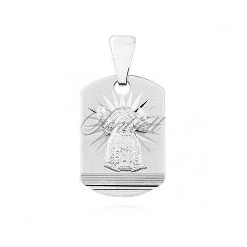 Srebrny (pr.925) medalik diamentowany Matka Boska Nieustającej pomocy - GMD028, GMD028