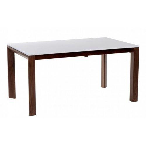 Stół rozkładany Camello 150/200 outlet biały mat, nogi orzech amerykański
