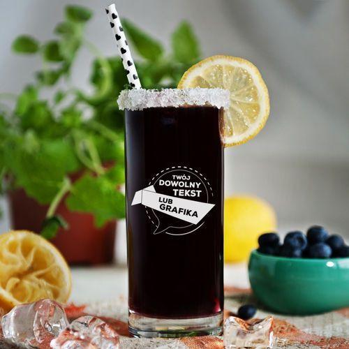 Projekt własny - grawerowana szklanka do drinków - szklanka marki Mygiftdna