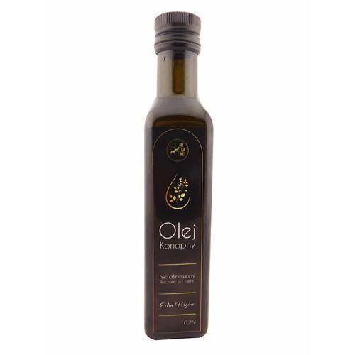 Olej Konopny Tłoczony Na Zimno Extra Vergine Szklane Opakowanie 250 ml