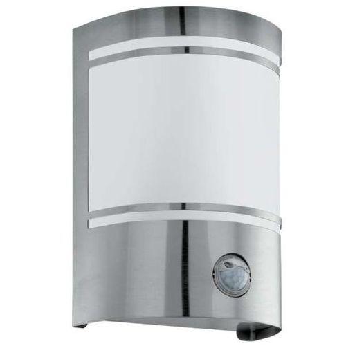 EGLO Lampa zewnętrzna z czujnikiem ruchu Cerno, 40 W, srebrna, 30192, 30192