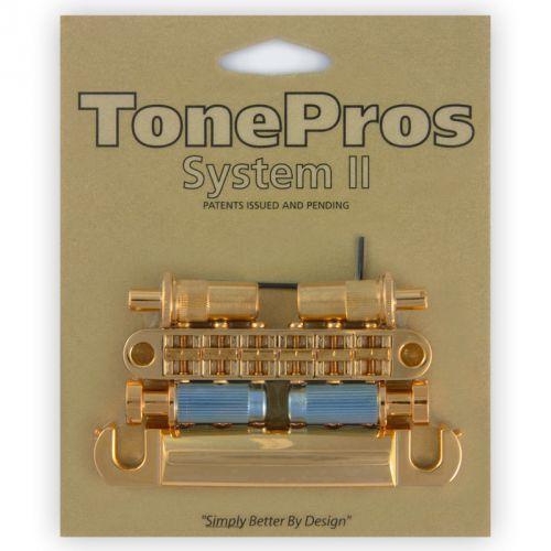 TonePros LPM02-G - Bridge and Tailpiece Set, mostek do gitary, złoty