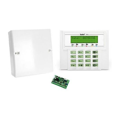 Komplet: Centrala alarmowa VERSA 5, manipulator VERSA-LCD-GR, obudowa OPU-4 P, VERSA 5-KLCD