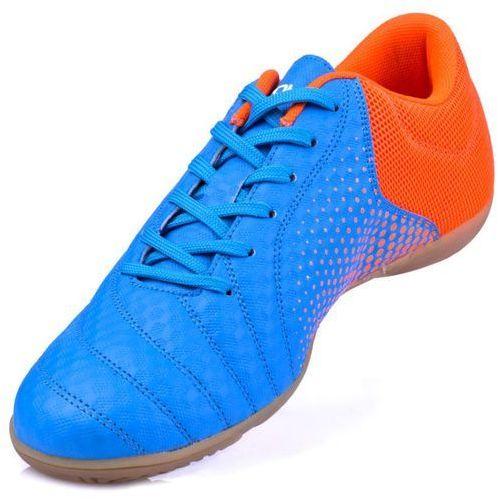 553d36fd66054 Buty SPOKEY Hall Jr 3 (rozmiar 36) Niebiesko-pomarańczowy 75,99 zł Buty do  gry w hali. Zaprojektowane dla juniorów zaczynających przygodę z piłką  nożną.