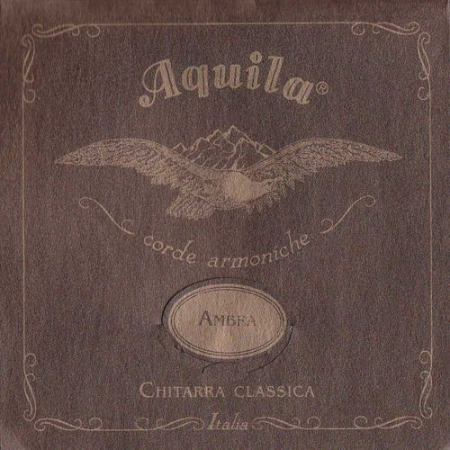 ambra 900 - nylgut & silver plated copper / classical guitar struny do gitary klasycznej, low tension marki Aquila
