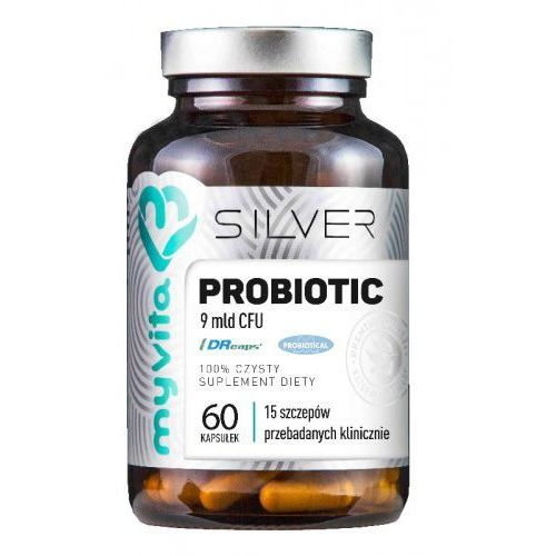 Probiotyk 9mld cfu 60 kapsułek - silver marki Myvita