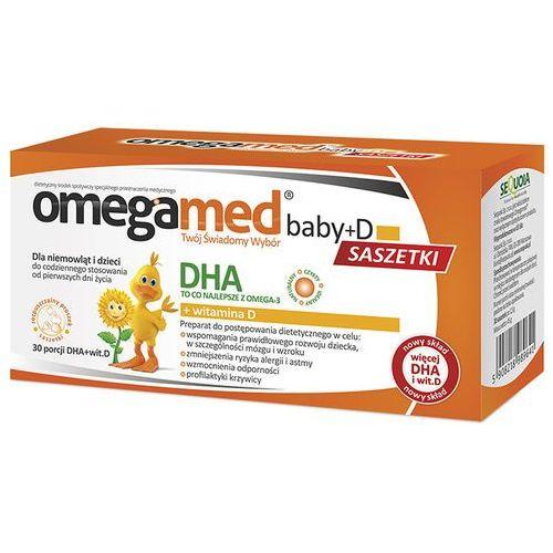 Omegamed baby+d x 30 sasz (proszek)