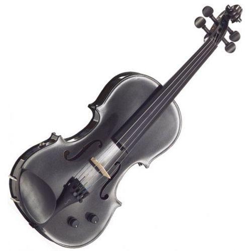 1515bla skrzypce elektryczne 4/4 harlequin, zestaw, czarny marki Stentor