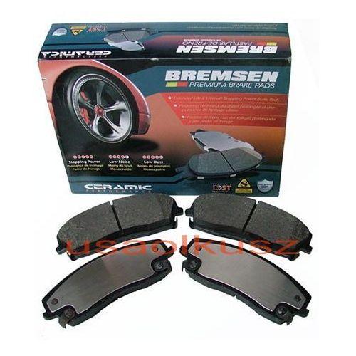 Przednie ceramiczne klocki hamulcowe tarcze 320mm chrysler 300c marki Bremsen