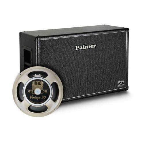 Palmer mi cab 212 v30 ob kolumna gitarowa 2 x 12″ z głośnikami celestion vintage 30, 8/16ohm, otwarta z tyłu