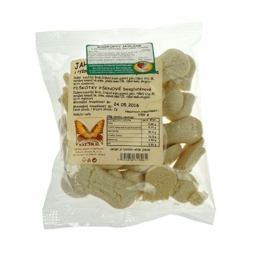 Biszkopty jaglane bezglutenowe z syropem ryżowym bez jajek, cukru i mleka 150g NATURAL, 8594010318061
