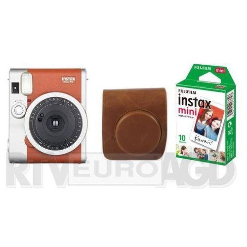 instax mini 90 + etui + wkład instax mini 10 (brązowy) marki Fujifilm