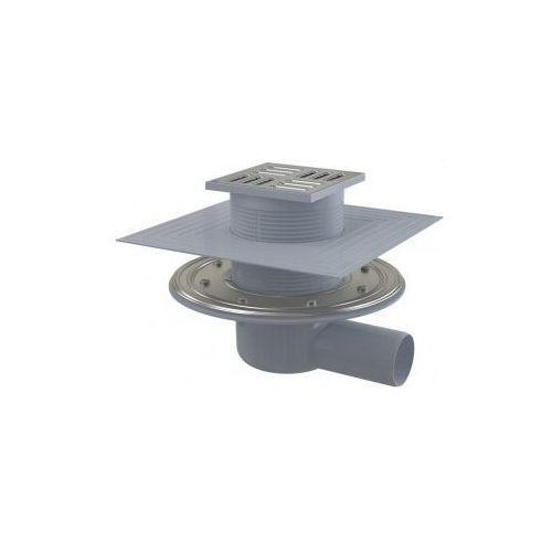 Kratka ściekowa 105x105 mm odpływ boczny Alcaplast APV1324 ze sklepu kaczucha.pl