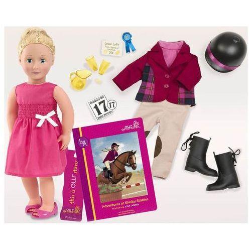Lalka Lily Anna - DŻOKEJKA z dodatkowym zestawem ubranek i akcesoriami (lalka) od Patalonia