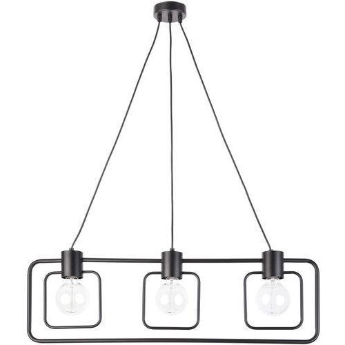 LAMPA wisząca FREDO KWADRAT 31511 Sigma loftowa OPRAWA metalowa ramka zwis czarny, 31511