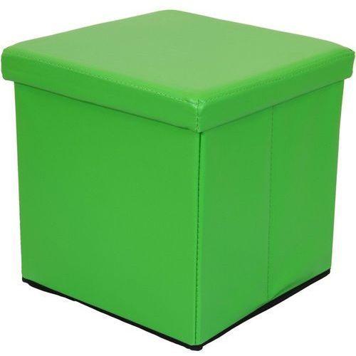 ZIELONA SKŁADANA PUFA CUBE SIEDZISKO KUFER FOTEL - Zielony (40040298)