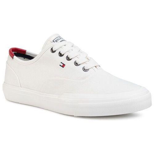 Tenisówki TOMMY HILFIGER - Core Oxford Twill Sneaker FM0FM02670 Ivory YBI